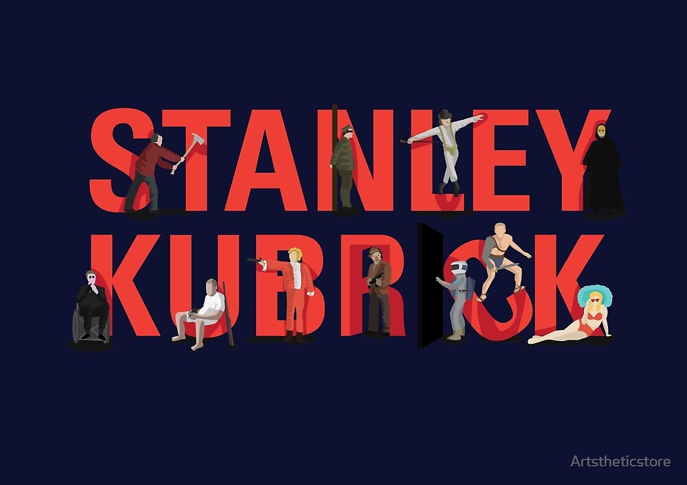 Director Stanley Kubrick with his movie characters - Unique by Artstheticstore