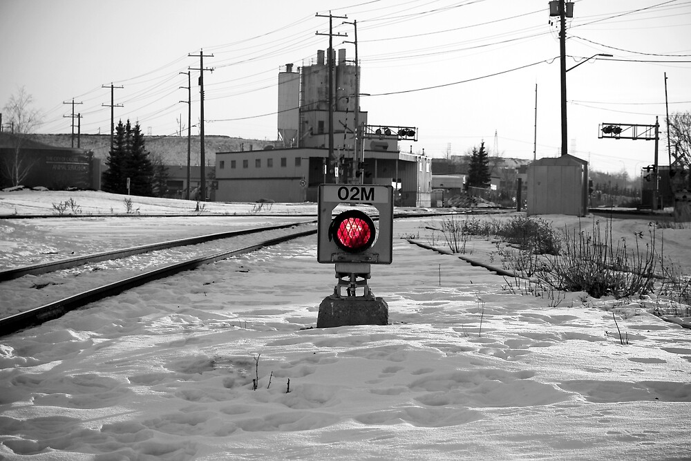 Train Track Signal Light by Lainey1978