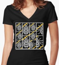 MANchester Bee Women's Fitted V-Neck T-Shirt