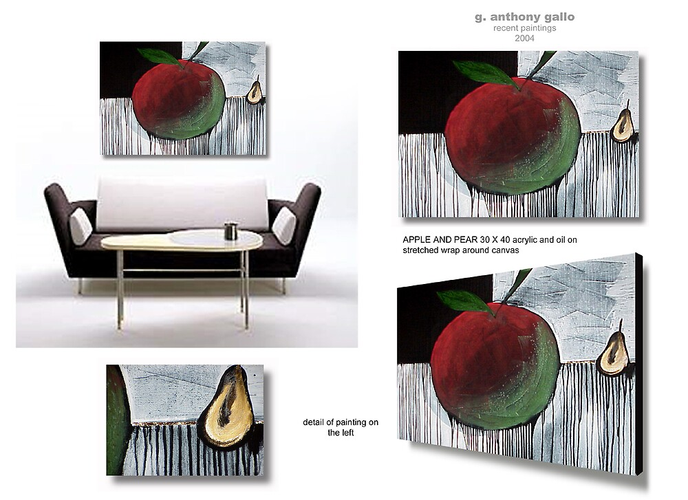 Apple and Pear by arteology