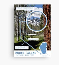 Mount Tallac Infographic Canvas Print