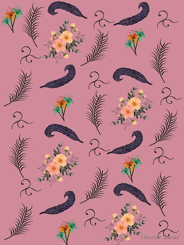 Floral and Feather Design by Heather Gomez