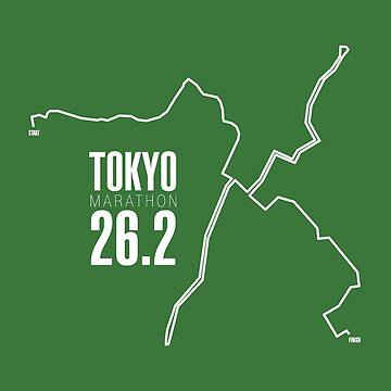 Tokyo Marathon route. by Confundo