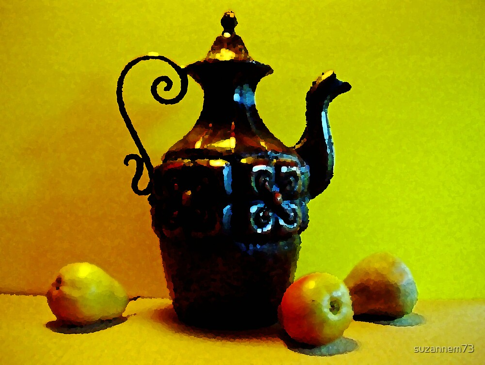 Ornate Metal with Pears by suzannem73