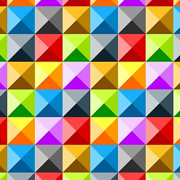 Patchwork colorful square triangle pattern by PLdesign