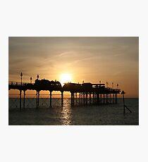 Teignmouth Pier, Devon, England Photographic Print