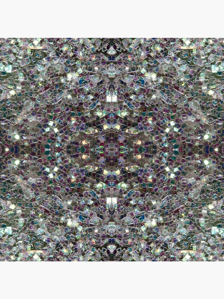 Sparkly colourful silver mosaic mandala by PLdesign