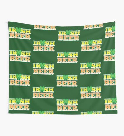 IRISH BEER in green Wall Tapestry