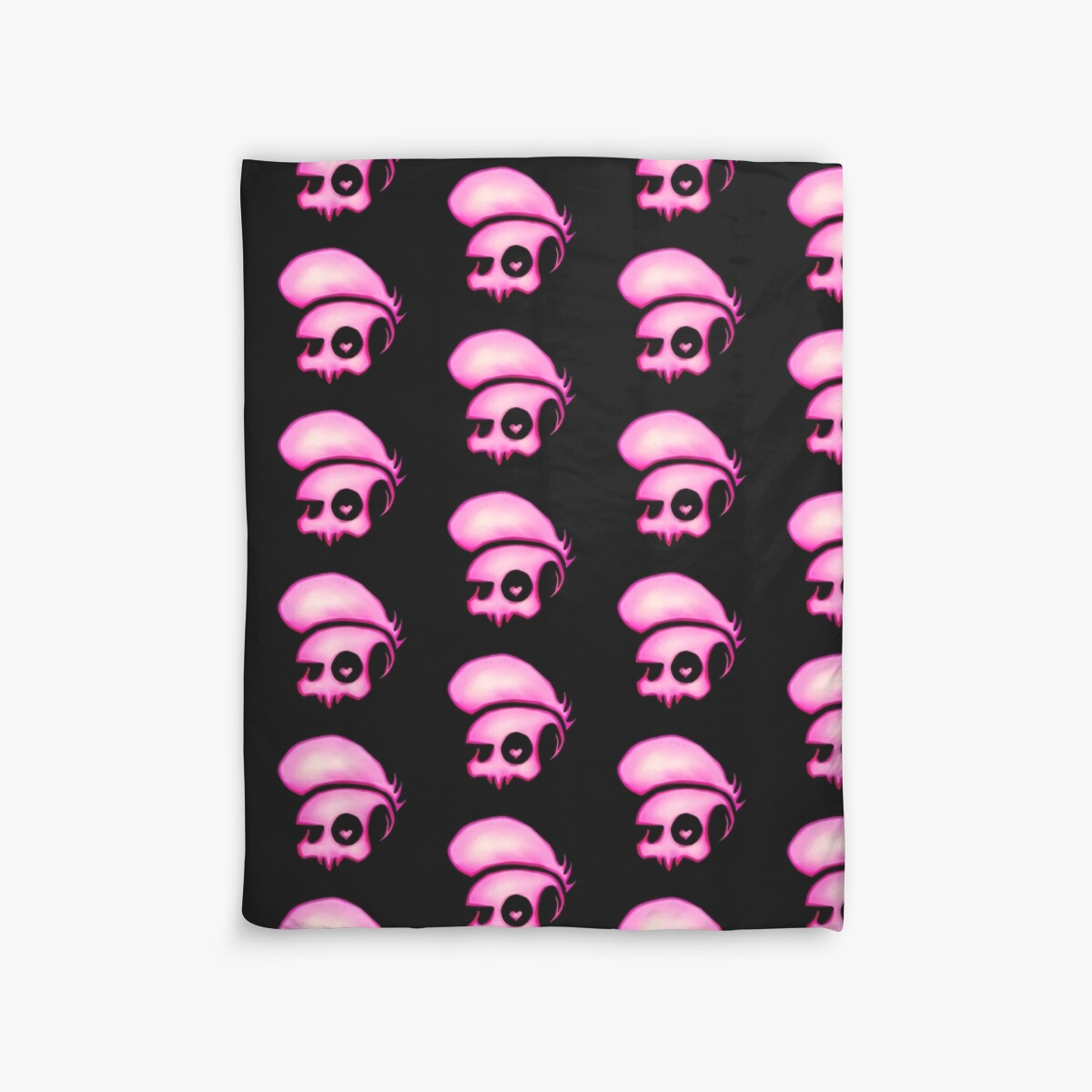 Quot Mystery Skulls Lewis Deckers Logo Quot Duvet Covers By