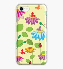 colorful meadow iPhone Case/Skin