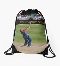 Hit it for six, it's cricket Drawstring Bag