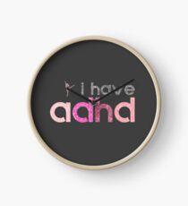 I have ADHD ballet dancer pink for girls Clock