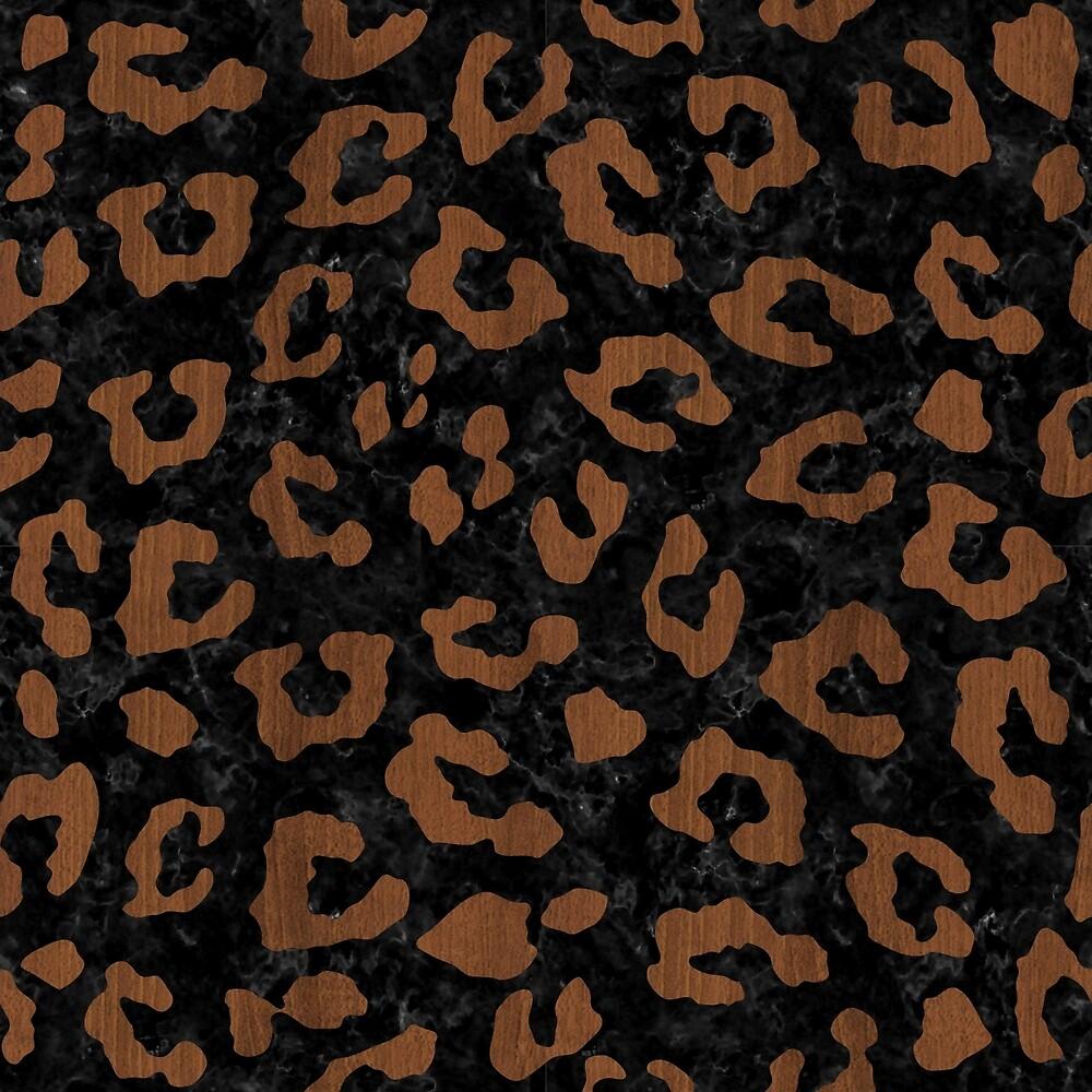 SKIN5 BLACK MARBLE & BROWN WOOD (R) by johnhunternance