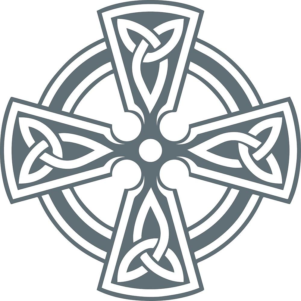 Celtic Cross (Gray) by Richard Wagner