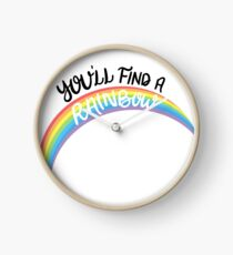 Kesha - Rainbow (Black Font) Clock