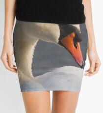 swan at lake Mini Skirt