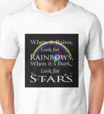 When It Rains-Black Background T-Shirt