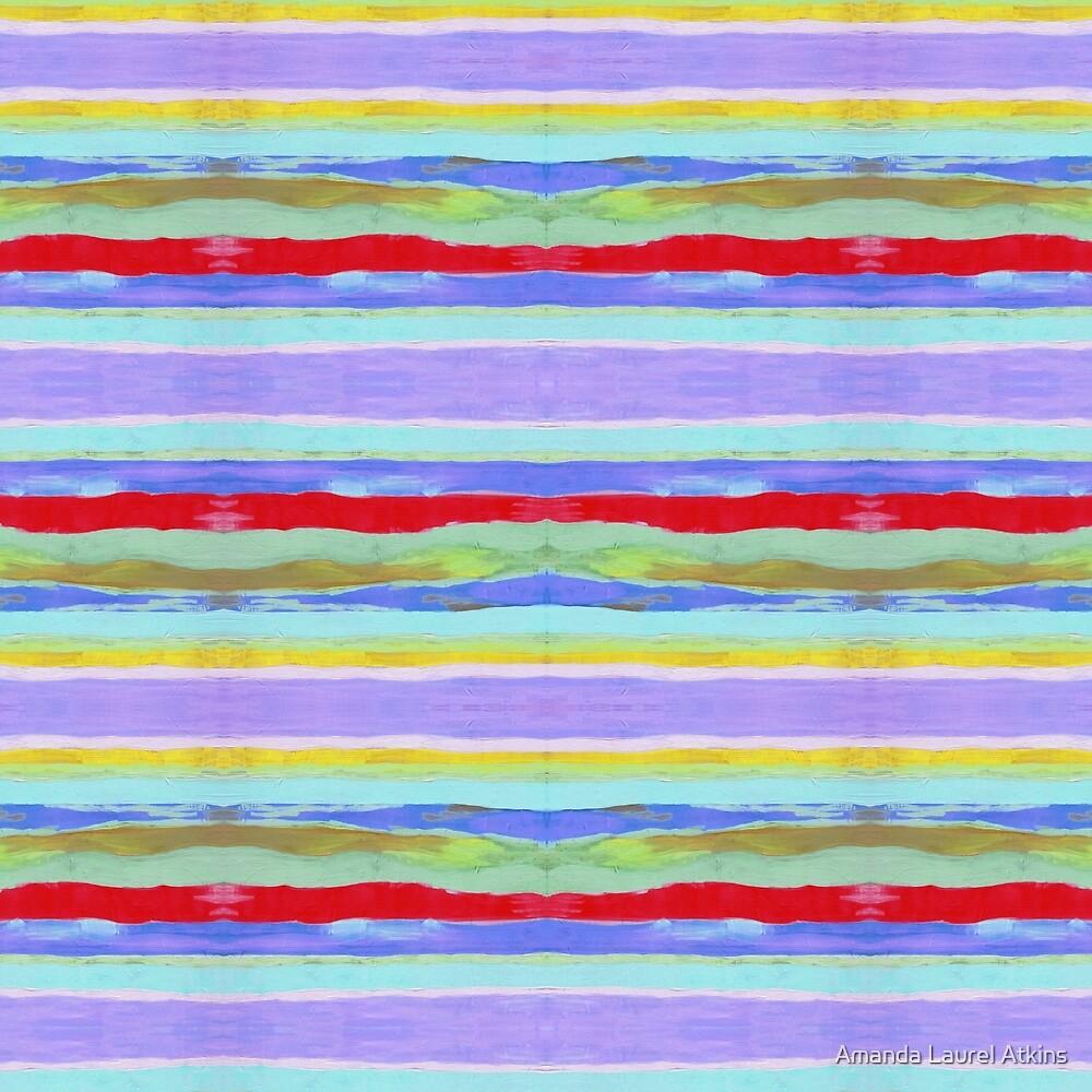 Lilac Field stripes by Amanda Laurel Atkins