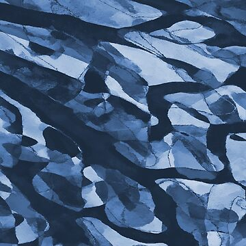Turning Tide Navy Blues #pattern #decor #redbubble by MenegaSabidussi