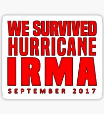 We Survived Hurricane Irma 2017 Sticker Sticker