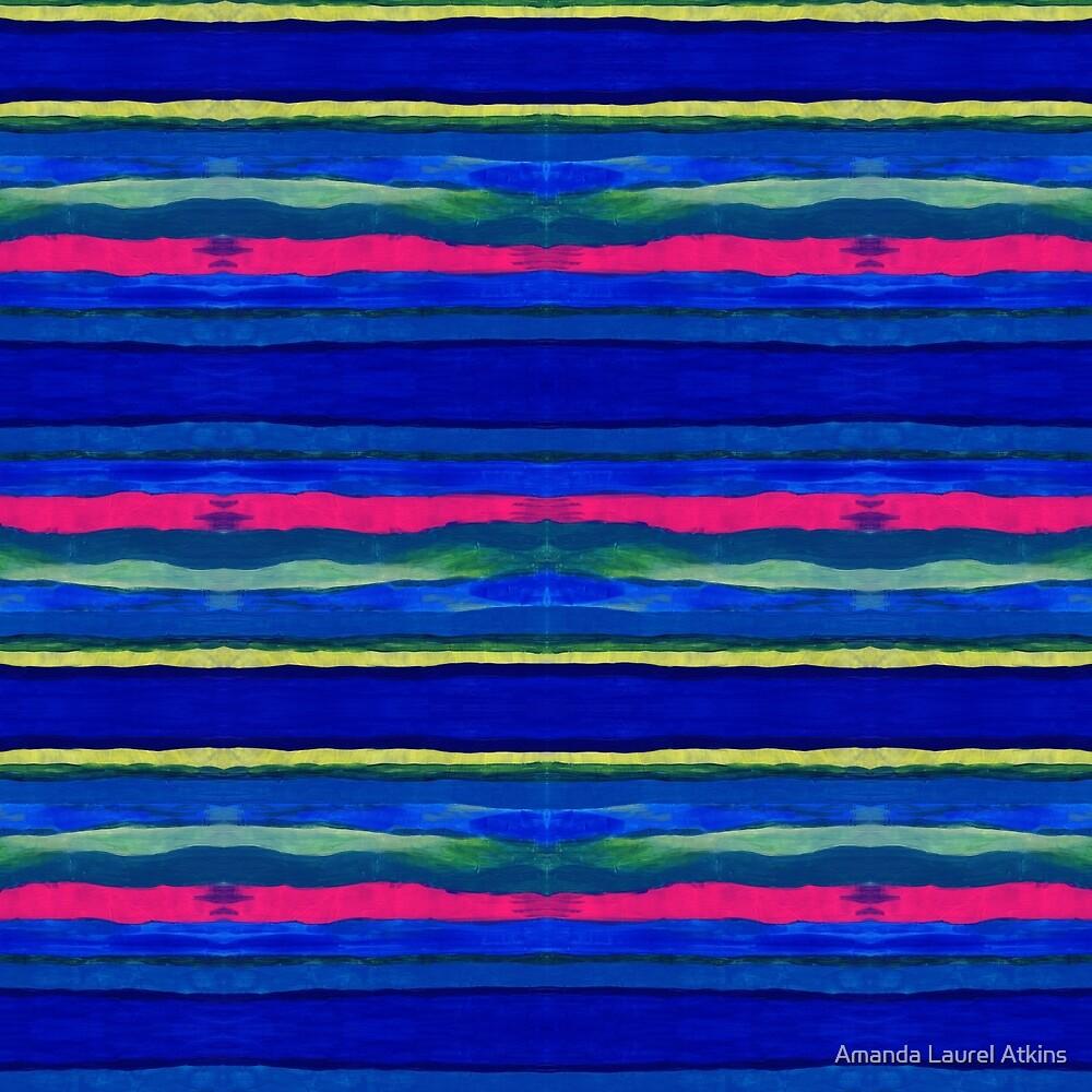 Cerulean Stripes by Amanda Laurel Atkins