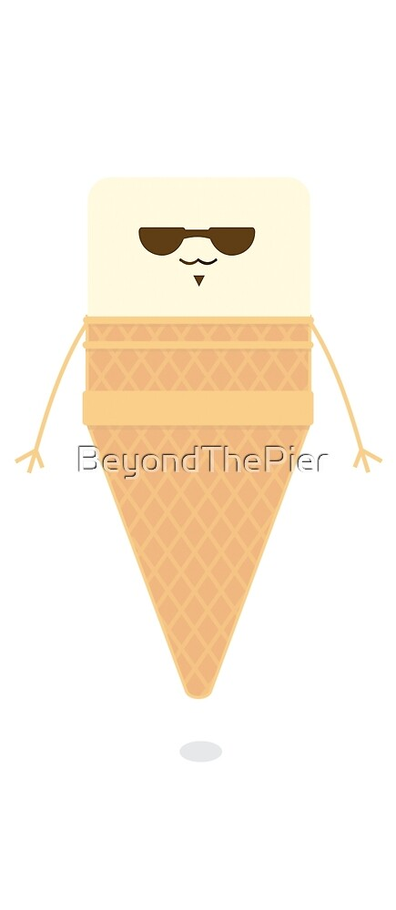 Vanilla Ice Cream Cone Character by BeyondThePier