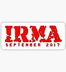 Hurricane Irma Sticker Sticker