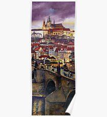Prague Charles Bridge with the Prague Castle Poster
