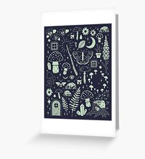 Fairy Garden: Midnight Greeting Card