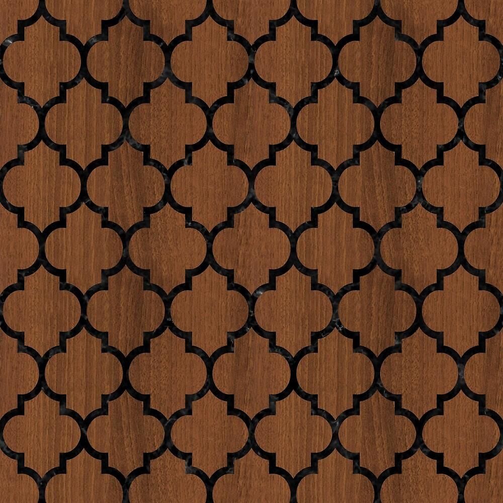 TILE1 BLACK MARBLE & BROWN WOOD (R) by johnhunternance