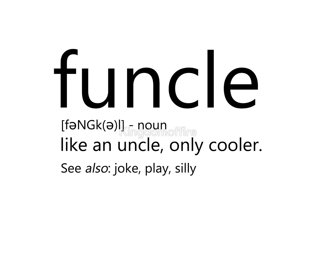 Funcle- Black font by Kingdomoffire