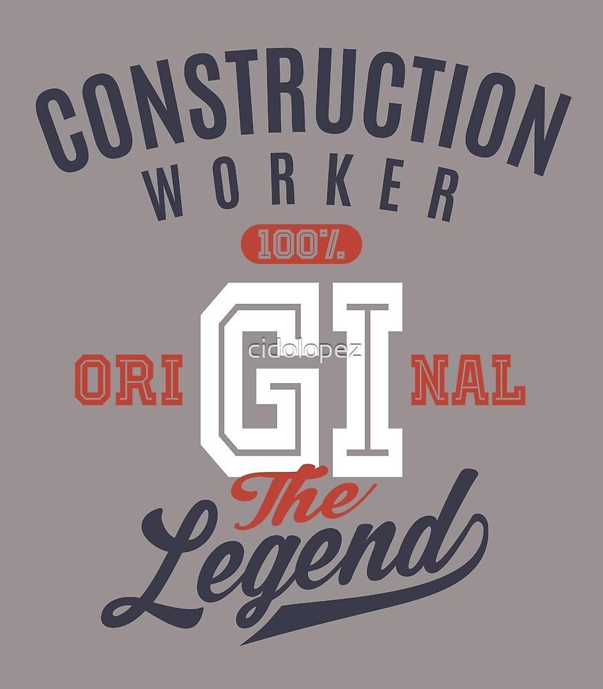 Construction Worker Original by cidolopez