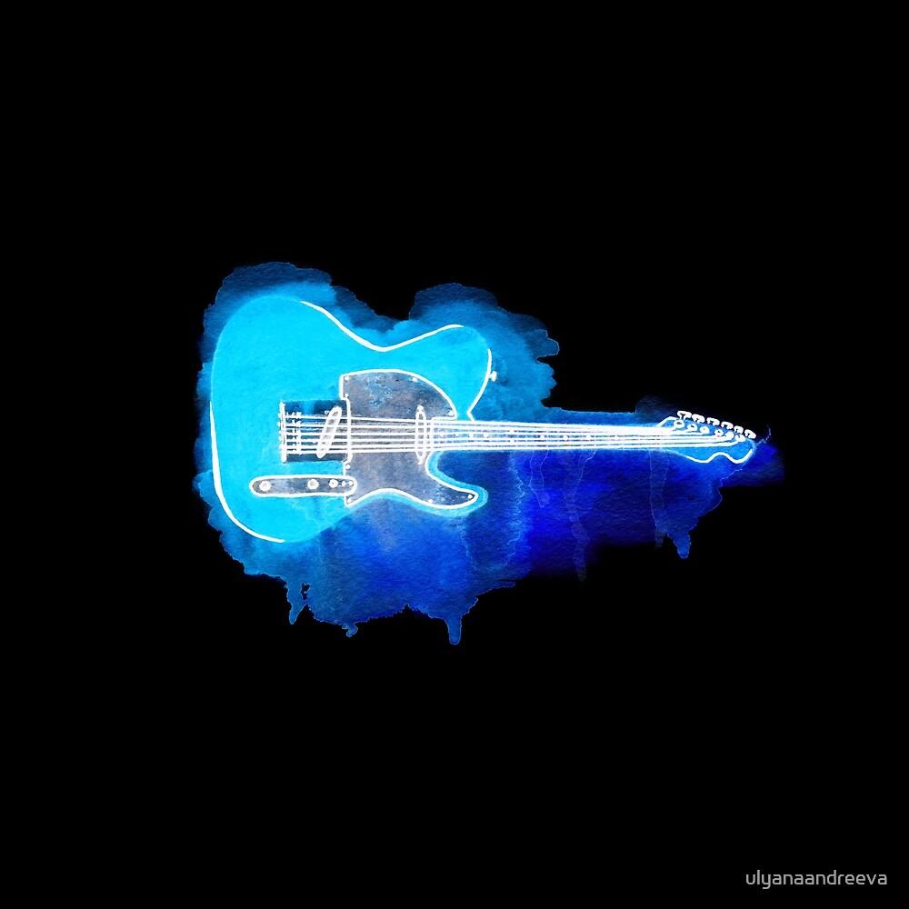 Watercolor guitar by ulyanaandreeva