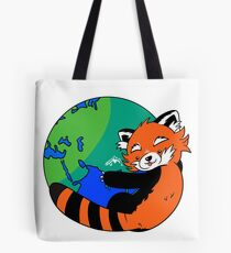 Bolsa de tela Salva el planeta, salva a los pandas