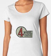 Toyota FJ40 Land Cruiser Four Wheel Drive Emblem Women's Premium T-Shirt