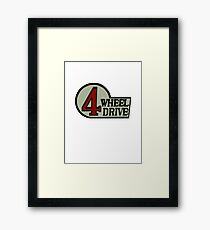 Toyota FJ40 Land Cruiser Four Wheel Drive Emblem Framed Print