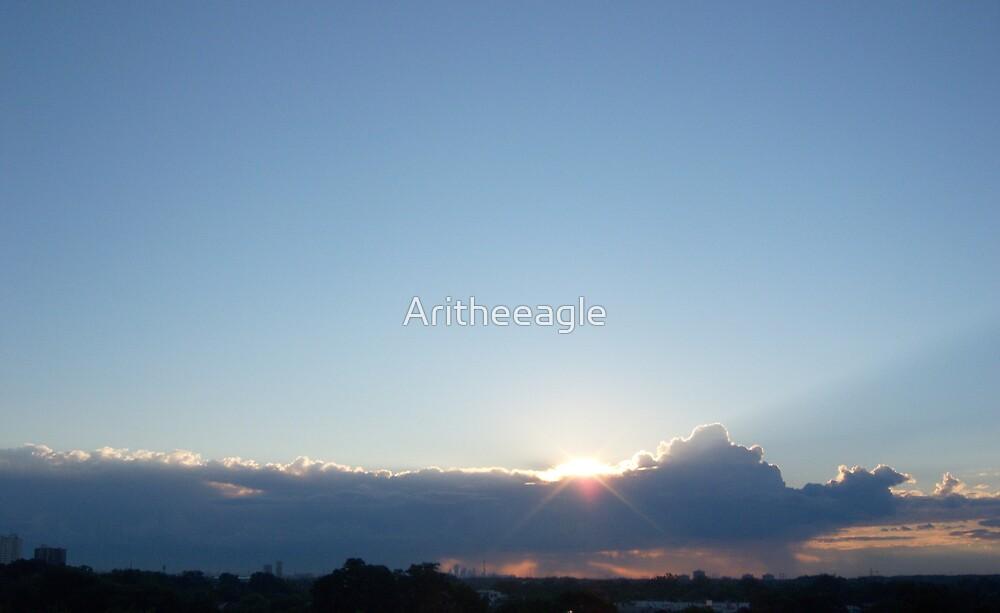 Ari's SUNRISE SPLASH : THE LIGHT WITHIN by Aritheeagle