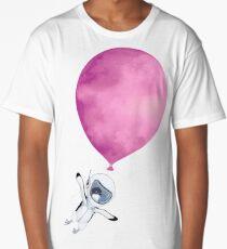 Penguin fly Pink Balloon Long T-Shirt