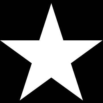 WHITE, STAR, on BLACK, Bright Star, STELLAR, ACHIEVEMENT by TOMSREDBUBBLE