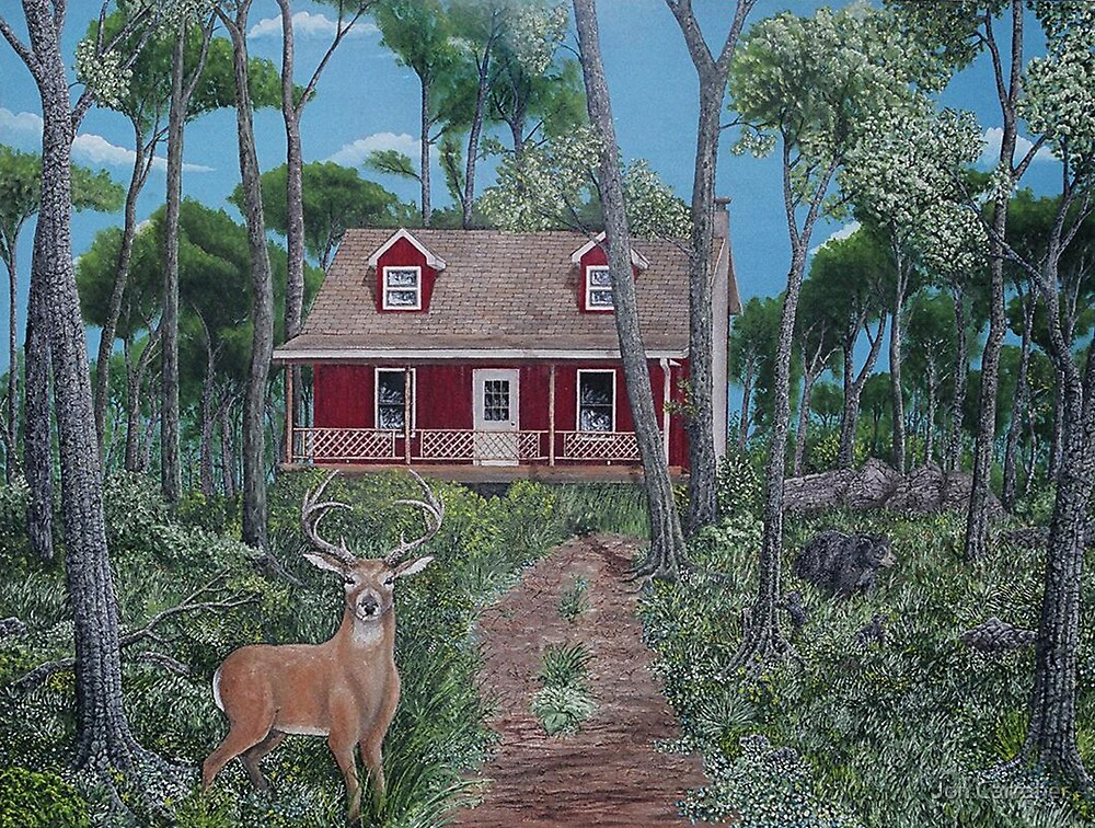 Red Cabin by Jon Carraher