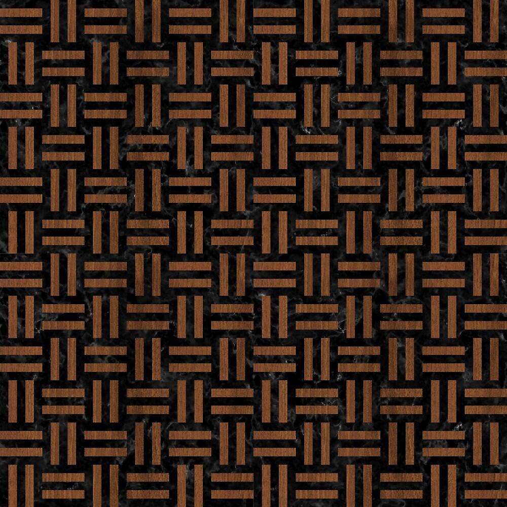 WOVEN1 BLACK MARBLE & BROWN WOOD by johnhunternance