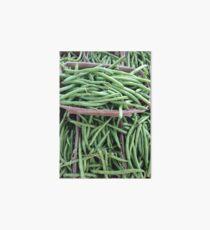 Baskets of Green Beans Art Board