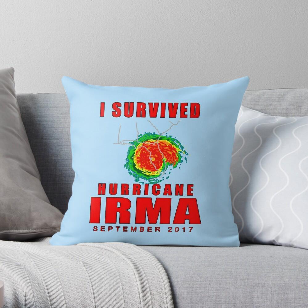 I Survived Hurricane Irma Throw Pillow