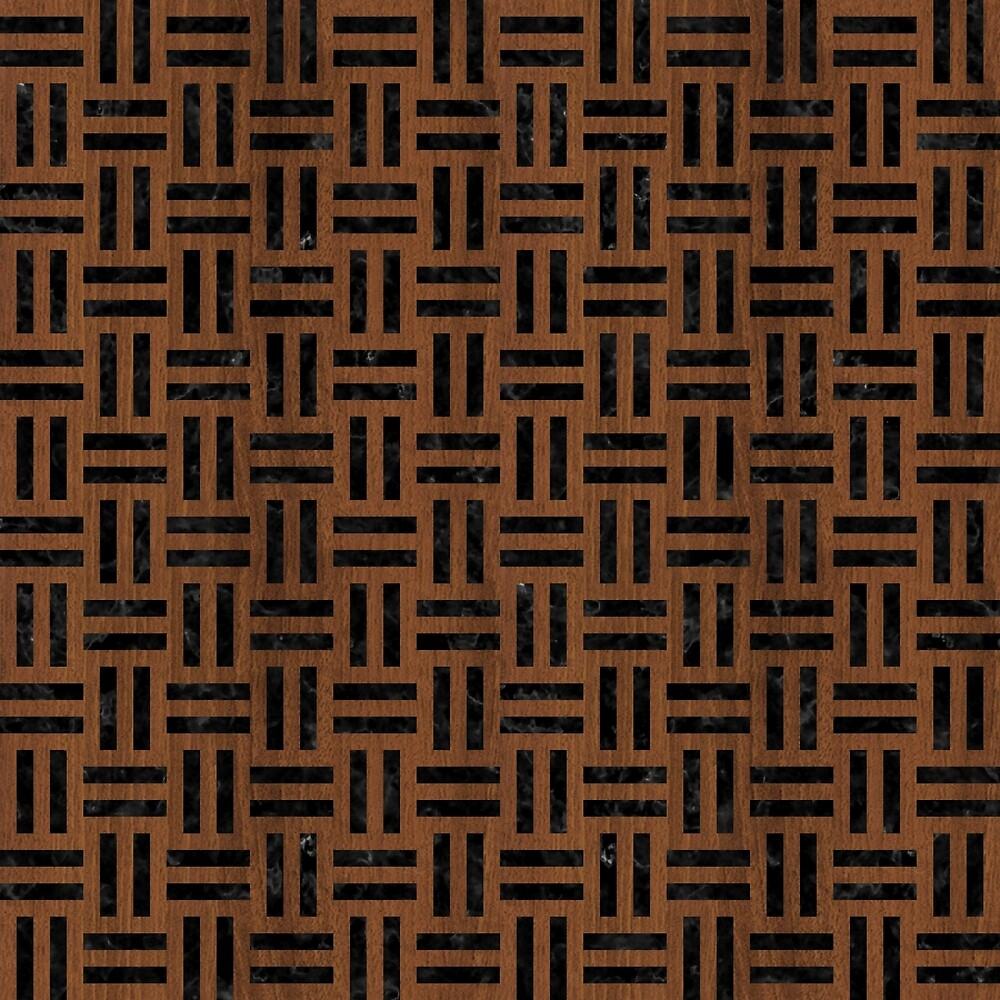 WOVEN1 BLACK MARBLE & BROWN WOOD (R) by johnhunternance