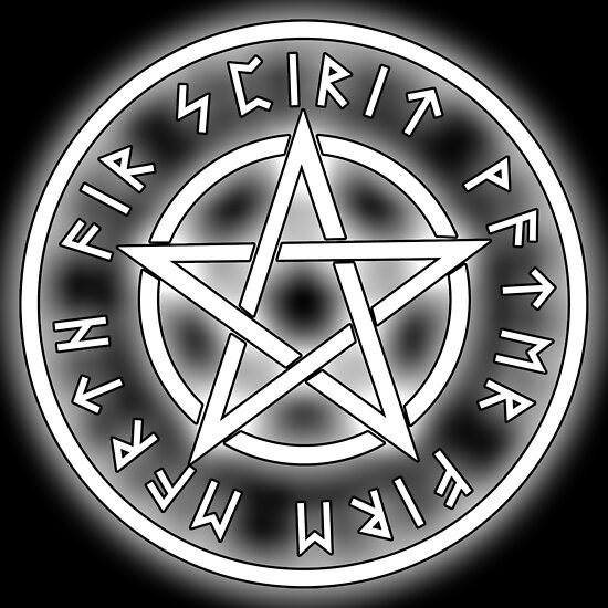 WICCA, White, Pentacle, Pentagram, Witch, Wizard, Modern, Pagan ...