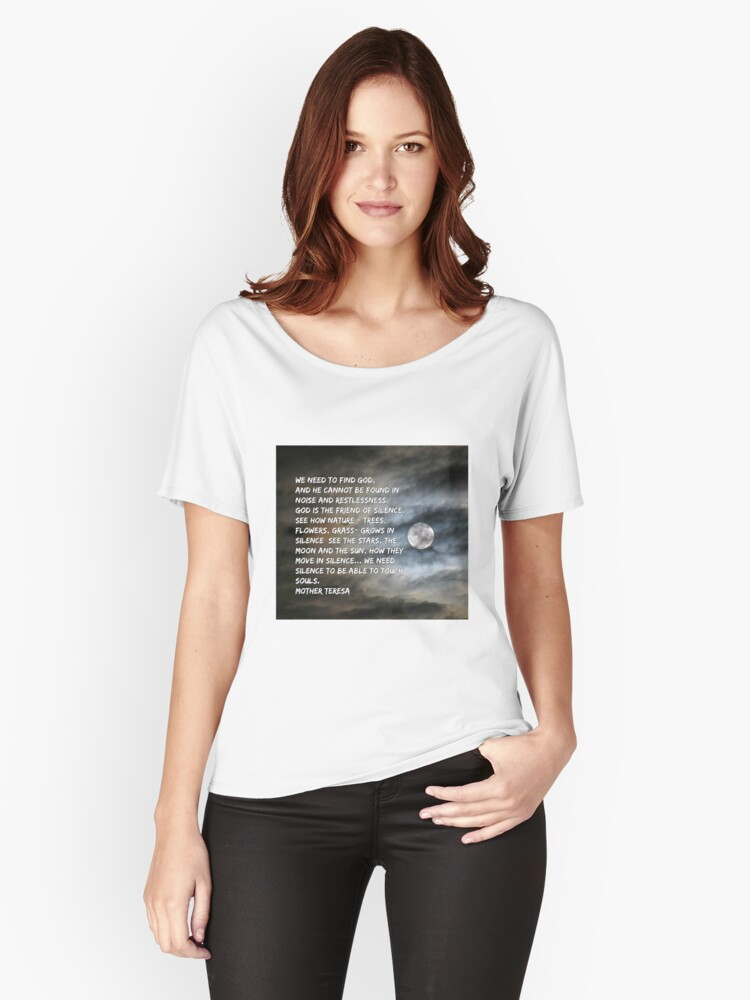 Mother Teresa Inspirational Quote  Women's Relaxed Fit T-Shirt Front
