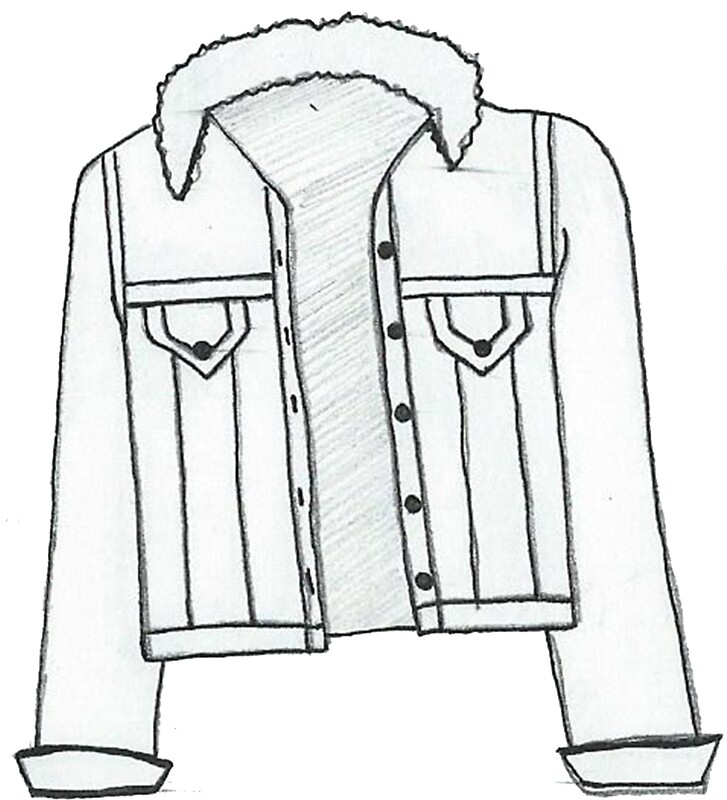 """""""scribbly denim jacket drawing"""" Stickers by Olivialee14 ..."""
