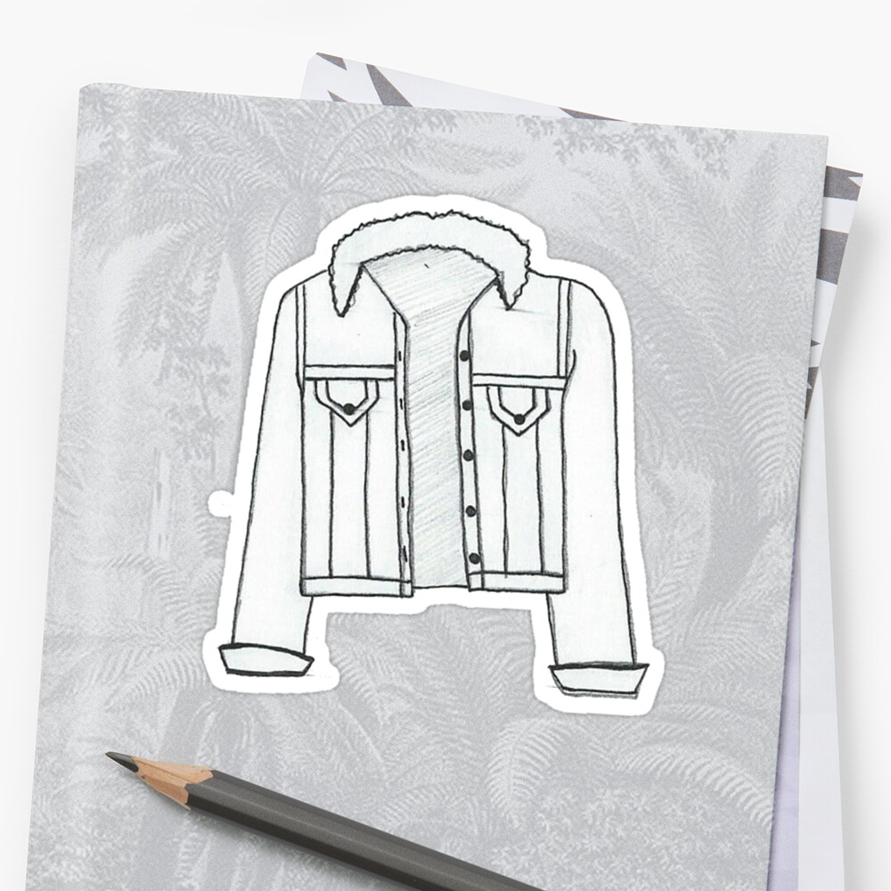 scribbly denim jacket drawing by Olivialee14