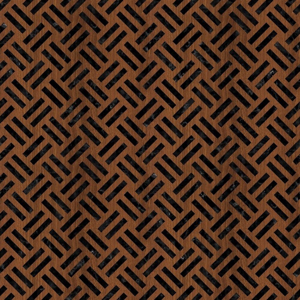 WOVEN2 BLACK MARBLE & BROWN WOOD (R) by johnhunternance