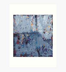 Gray Grunge Abstract Art Print